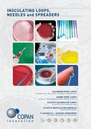 Inoculating Loops, Needles and Spreaders Brochure - Copan Italia