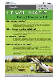 Jünger Audio LEVEL MAGIC Brochure - PDF - Aspen Media.