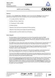 Jünger Audio C8082 Manual - PDF - Aspen Media.