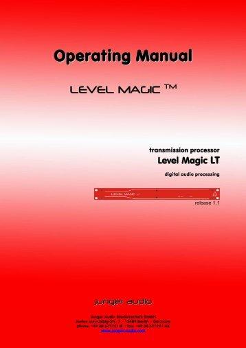 Jünger Audio LT Manual - PDF - Aspen Media.