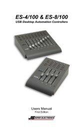 ES 4-100 & 8-100 USB User Manual - JLCooper Electronics