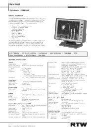 RTW 10500X-PLUS Data Sheet - PDF - Aspen Media.