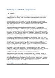 Miljøstrategi for norsk idrett - høringsdokument - Norges idrettsforbund