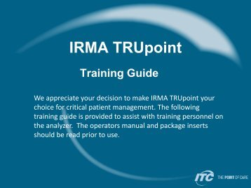 IRMA TRUpoint