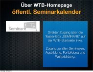 Anleitung für die Onlinemeldung - WTB