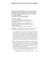 criminal propensity, deviant sexual interests - Defense for SVP