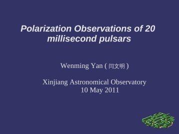 Polarization Observations of 20 millisecond pulsars