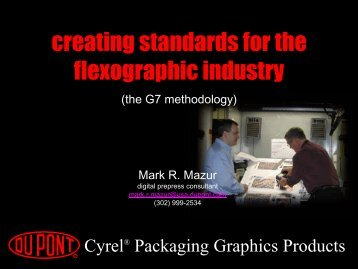 creating standards for the flexographic industry - DuPont