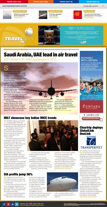 Sunday 28th July 2013.indd - Travel Daily Media