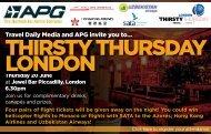 THIRSTY THURSDAY LONDON - Travel Daily Media
