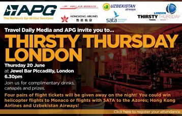 THIRSTY THURSDAY LONDON - Travel Daily Media