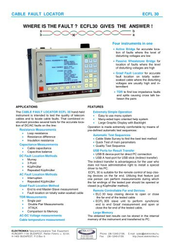 Cable Fault Locator On Line : Pfl portable cable fault location and