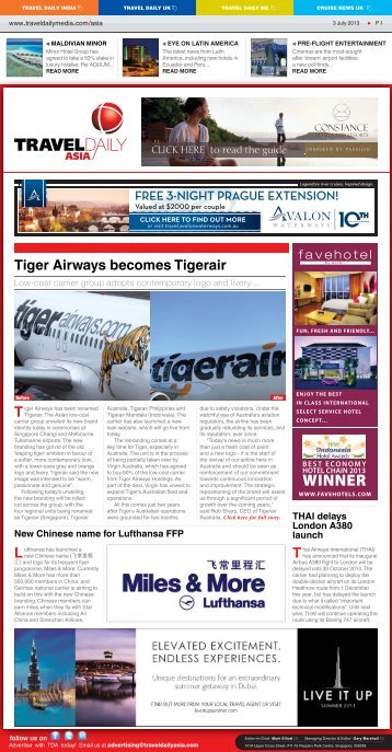 Tiger Airways becomes Tigerair - Travel Daily Media