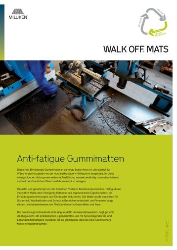 Anti-fatigue Gummimatten - Milliken