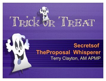 Secrets of the Proposal Whisperer - SPAC