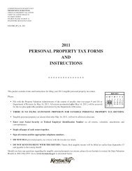 2009 tangible personal property tax return - Kentucky
