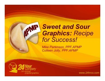 Sweet and Sour Graphics: Recipe for Success! - SPAC