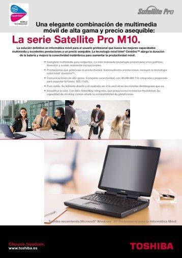 La serie Satellite Pro M10. - Toshiba