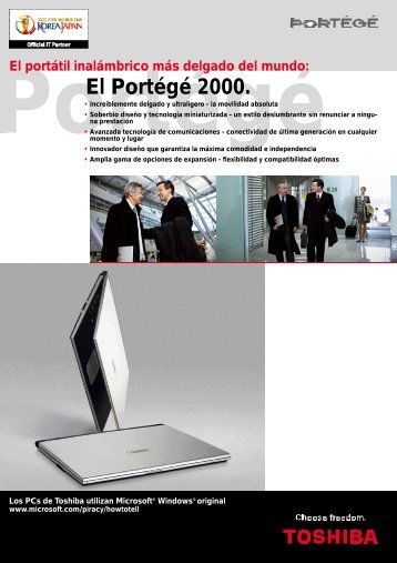El Portégé 2000. - Toshiba