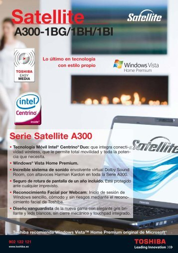 satellite A300-1BG-BH-BI - Toshiba
