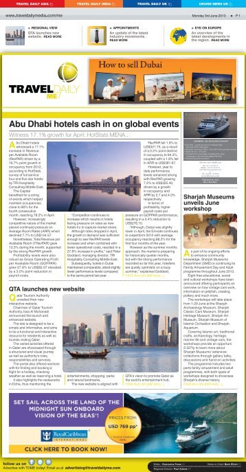 Abu Dhabi hotels cash in on global events - Travel Daily Media