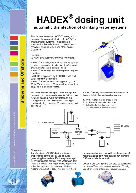 E dosing unit - Marine Plant Systems