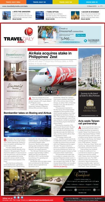 Airasia acquires stake in philippines' zest - Travel Daily Media
