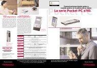 La serie Pocket PC e740. - Toshiba