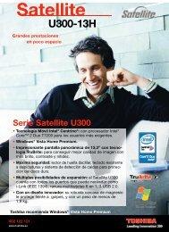 Serie Satellite U300 - Toshiba