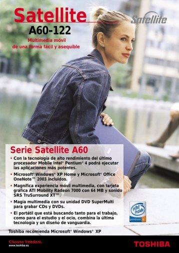 Satellite A60-122 - Toshiba