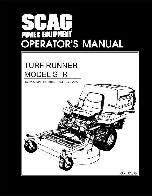 OPERATOR'S MANUAL - Scag Power Equipment
