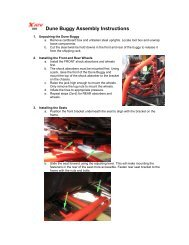 Dune Buggy Assembly Instructions - Family Go Karts