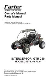 TrailMaster Go-Kart MID XRS PARTS MANUAL - Shetley Kart Supply