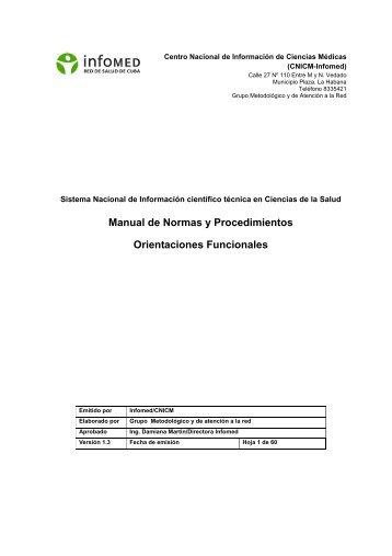 Manual de Normas y Procedimientos Orientaciones ... - Instituciones