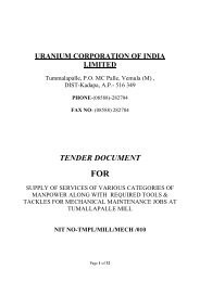 TENDER DOCUMENT - (UCIL).....