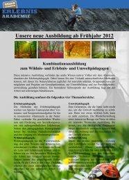 Unsere neue Ausbildung ab Frühjahr 2012 - Heiko Gärtner