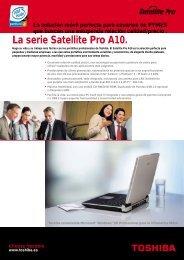 La serie Satellite Pro A10. - Toshiba