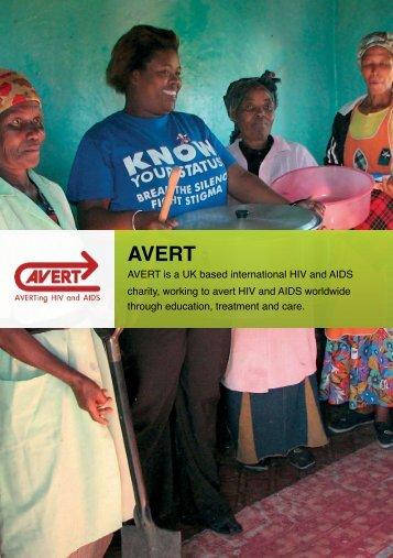 """""""The Work of AVERT"""" Booklet"""
