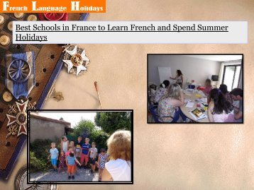 Best Schools in France to Learn French and Spend Summer Holidays