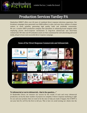 Production Services Yardley PA