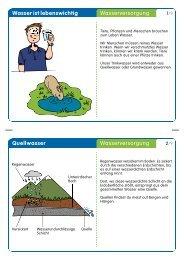 Wasser ist lebenswichtig Wasserversorgung Quellwasser ...