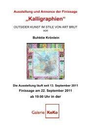 Einladung zur Finnisage - Galerie KoKo