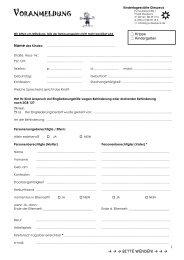 VORANMELDUNG - Kindergarten Diespeck