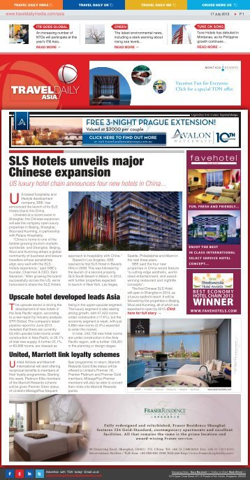 SLS Hotels unveils major Chinese expansion - Travel Daily Media