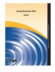 Doing Business 2010 Israel