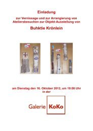 Buhktie Krönlein - Galerie KoKo