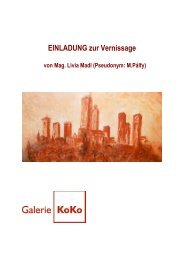 Einladung zur Ausstellung - Galerie KoKo