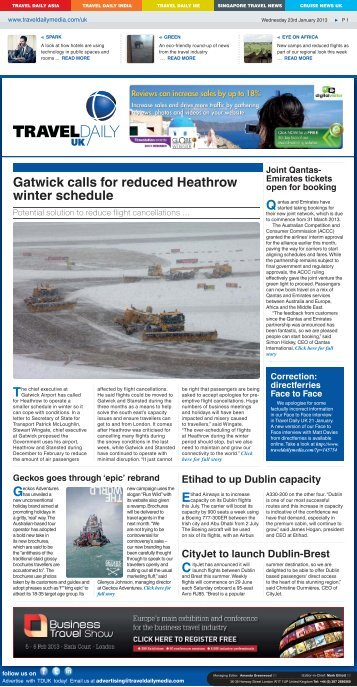 Gatwick Calls For Reduced Heathrow Winter Schedule