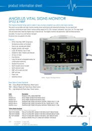 product information sheet ANGELUS VITAL SIGNS MONITOR - LR ...