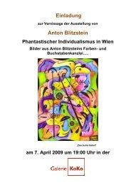 Einladung Anton Blitzstein - Galerie KoKo